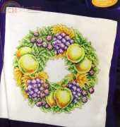 Autumn Wreath by Susan Bates from Cross Stitch Gold 42