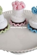 Crochet Cake Sachets and Copacetic Crocheter -Normalynn Ablao - Two Tier Cake - Free