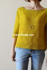 Olive Leaf Pullover by Ririko-English