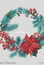 Christmas wreath by Daria Mastrakova