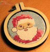 Winter Wonderland Mini Brooch - From Cross Stitcher 285-2014