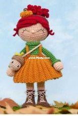 One and Two Company - Carolina Guzman - Abby The Autumn Dolly Amigurumi - German