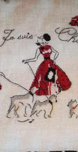 "Bag ""Mademoiselle Rouge"" - Les Brodeuses parisiennes"