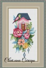 House with Peonies by Svetlana Sichkar