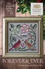 Cottage Garden Samplings - Forever and Ever Northern Cardinal and Christmas Rose XSD