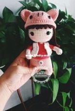 Bai Yang Handmade - Chinese Zodiac Doll Pig - Chinese