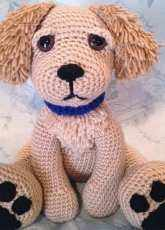 Heartstrings Theory - Jen Pirkle - 11inch Golden Retriever Puppy Pattern