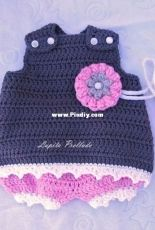Baby jumper with pacifier holder and diaper cover made with cotton # 4