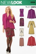 NEW LOOK 6164 Misses cardigan, dress and skirt - set of sewing patterns