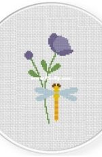 Daily Cross Stitch - Dragonfly And Flora