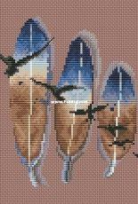 Mandarinks Design by Nadezhda Grigoryeva - Three Feathers