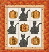 Mary Graham-Black Cats and Pumpkins-Free Pattern