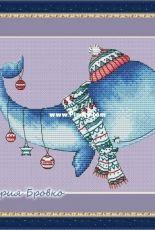 Christmas Whale by Maria Brovko