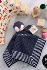 Theodore and Rose Handmade - Alanna ODea - Po The Playful Penguin security blanket
