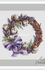 Cotton Wreath by Evgenia / Evgeniya Poluektova