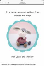 The Little Hook Crochet - Little Aqua Girl - Bubbles and Bongo - Erinna Lee - Don Juan the Donkey