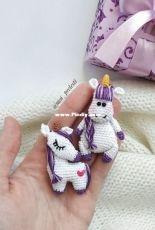 CrochetPatternByLily (Lilia Sharipova, moi_prelesti) - Bundle pattern of unicorn brooches - English