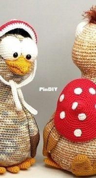 Wunderlichs Kreativchaos - Janine Wunderlich - Ed and Fred The Crazy Birds - Ed en Fred De gekke vogels - Dutch