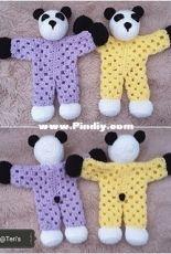 Panda Granny Hexagon Lovey by Crochet at Teri's - free