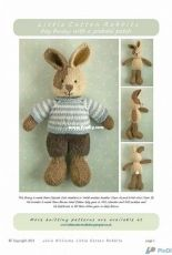 Little Cotton Rabbits-Boy Bunny with a piebald patch by Julie Williams