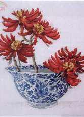 Coral flowers from Embroidery & Cross Stitch nr 6 (Vol.22) 2014