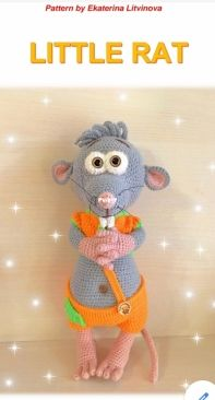 Kat Knit Toys - Ekaterina Litvinova - Little Rat