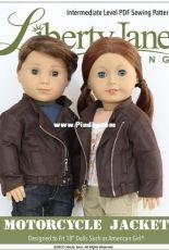 """Liberty Jane Clothing - Motorcycle Jacket for 18"""" Dolls"""