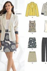 New Look 6035 women multisize sewing pattern set