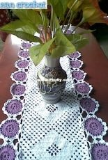 Zan Crochet - Zan Merry - Tablecloth - Free