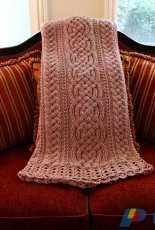 Rebeccas Stylings - Noelle Stiles - Aberdeen Cable Blanket