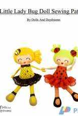 Dolls and Daydreams- Little Lady Bug Doll Sewing Pattern