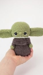 Affordable Cuteness - Theresas Crochet Shop - Theresa Grey - Baby Alien - Inspired by baby Yoda - Updated version - Free