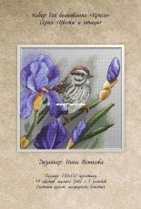 Flowers and Birds - Iris by Inna Peshkova