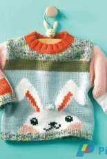 Rabbit baby sweater by Yarnplaza.com - Free