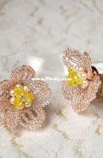 YA-696 Spring Flower Earrings - Wakana Aizawa - Japanese - Free