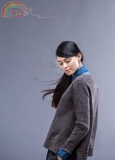 Brooklyn Tweed Wool People Vol.9 Gehry V-Neck Pullover with Side Vents - Ann McCauley