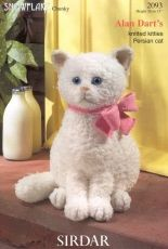 Sirdar Snowflake Chunky-2093-Knitted Kitties-Persian Cat by Alan Dart