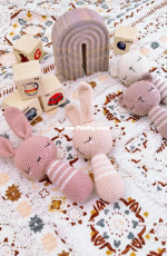 Bella Coco - Sarah-Jayne Fragola - Sleepy Baby Bear and Bunny Stick Rattle - Free