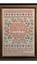 Hands across the sea samplers - Sarah Mary Larkworthy 1727