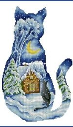 MiAxStitch - Winter Cat by Minasyan Yana XSD