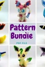 1upcrochet - Ashe - BUNDLE All Chibi Eeveelution ENGLISH