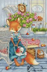 Lizzy in the Garden by Natalia Dervish
