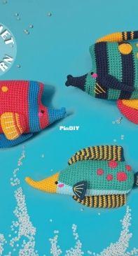 Natura Crochet - Summer Funquarium - English, Spanish or Portuguese