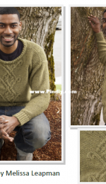 Cascade Yarns-C200-by Melissa Leapman-Celtic Cable Pullover-Free.
