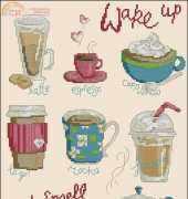 Espresso Yourself by Maria Diaz from Cross Stitcher UK 262