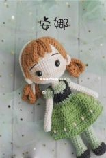 Green Frog Crochet - Thuy Anh - Anna - Chinese - Free