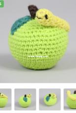 Hobbii Designs - Marjan van Leer - Apple with Caterpillar - Dutch - Free.