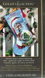 Dimensions 70-08985 Santa's Snow Globe Christmas Stocking