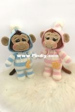 Hollys Hobbies - Holly McNevan - PJ Pals Max and Macy Monkey
