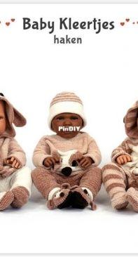 Anja Toonen - baby kleertjes haken - crochet baby clothing